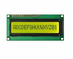 16x1 Character LCD Display - Yellow Green