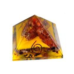 Orgone Pyramid With Five Coper Rings