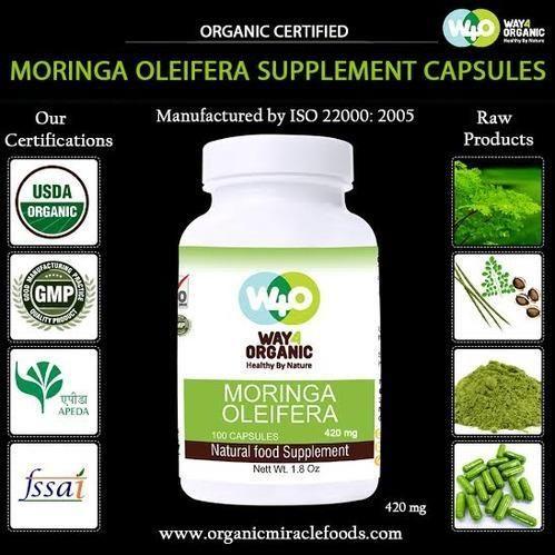 Fine Grade Moringa Capsules for OEM(420 mg)