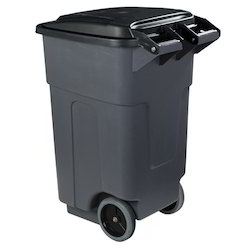 Black Two Wheeled Dustbin Container