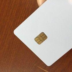 Plain White PVC Chip Card