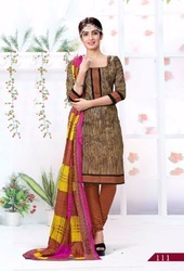 Lado Cotton Printed Churidar Dress Material