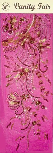 Pink Stone Work Fabric