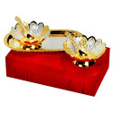 Brass Antique Gold Tray Set