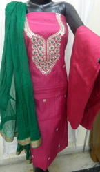 Aaditri Ethnic Chanderi Gota Patti Suit