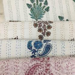 Hand Block Printed Kantha Bedcovers