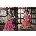 Pink Dress with Designer Work