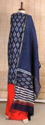 Chanderi Silk Cotton Dress Material Set