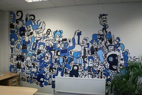 Designer wall mural