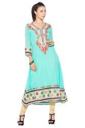 Designer Embroidery Party Wear Long Kurtis