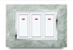Aqua Cherry Plate Texture Electrical Switch