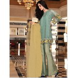 Embroidered Parallel Suit