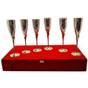 Brass Silver Plated  Wine Glasses Set