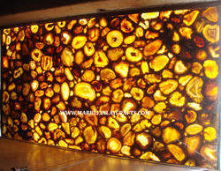 Backlit Yellow Agate Slab