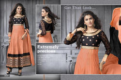 Orange Anarkali Suit