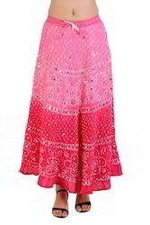 Gilrs Summer Bandhini Skirt