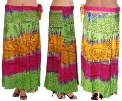 Designer Rayon Wrap Skirt
