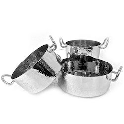 SS Hammered Mini Casserole Portion Dishes