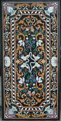 Marble And Semiprecious Stone Inlay Table Top