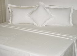 Plain White Hotel Sheet Set