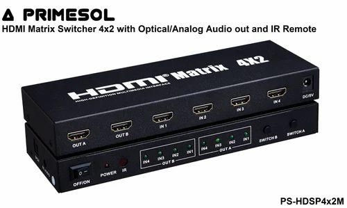 HDMI Matrix Switch 4x2 with IR Primesol PS-HDSP4X2M