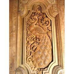 Teakwood Hand Carved Special Doors - SPL Hand Carved Temple Door VU ...