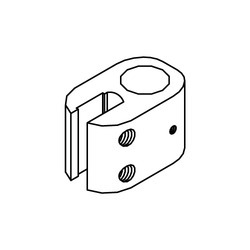 DORMA Support Bar Glass Clamp (for 10 mm Glass)