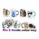 Rim Handle Colour Mug