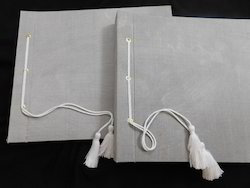 Silk Fabric Covered Wedding Photo Albums With Tassel Tie
