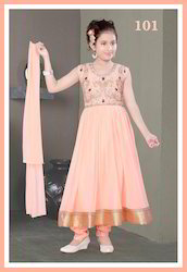 Peach Small Girls Indian Suit