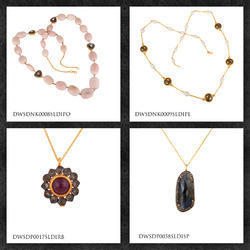 Pave Diamond Pendants & Necklaces