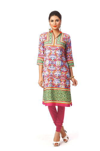 Chinesse Collar Digital Printed Kurti