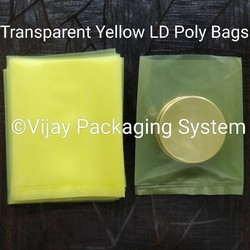 Transparent Yellow LDPE Bags