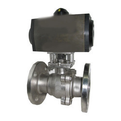Pneumatic Rotary Actuator Operated Ball Valve, 2 Pc. Design