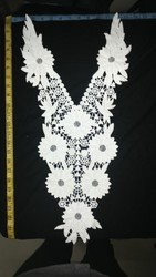Flower and Fancy Pattern of Cotton Work Neck Collar.