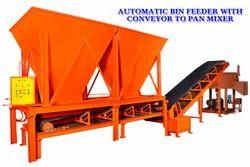 Conveyor To Pan Mixer Automatic Bin Feeder