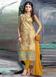 Designer Yellow and Golden Churidar Suit
