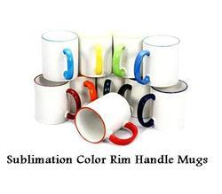 Sublimation Color Rim and Handle Mugs