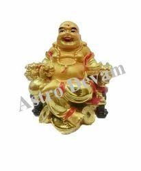 Seated Laughing Buddha Gold Ingots