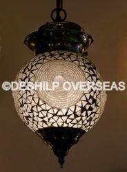 White Mosaic Glass Hanging