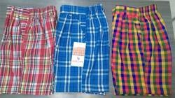 Charming Checks School Shorts for Pre Primary Section