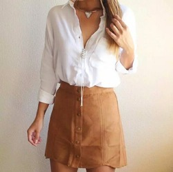 Shirt Blouse and Skirt Set