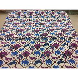 Woolen Embroidery Bed Cover