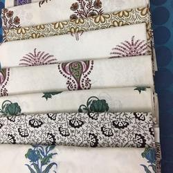 Hand Block Printed Cotton Bedsheets With Two Pillow Cases