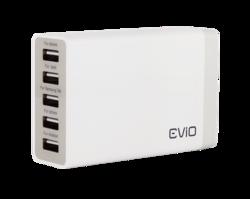Evio Speedcharge 5 Port USB Wall Charger