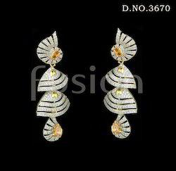 American Diamond Double Jhumka Earrings
