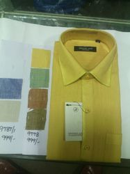 Men's Yellow Party Wear Shirt