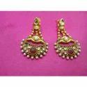Designer Red Bead Earrings