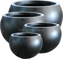 Fiberglass Matt Round Planter Pot