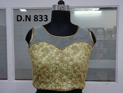 Net Embroidered Sequence Work Stitched Blouse